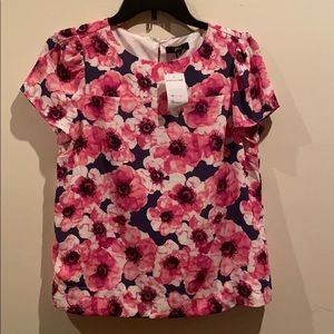 NEW J. CREW Floral Blouse Top
